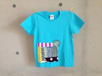 さをりTシャツ(130㎝・水色)の画像