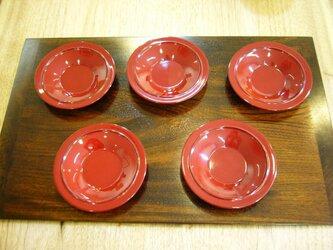赤漆 茶托 5客セットの画像