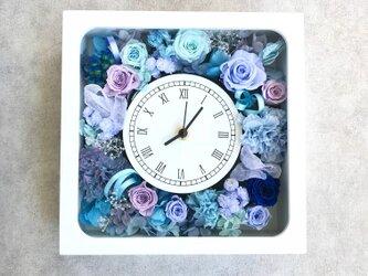 【受注製作】花時計 ブルーラベンダーの画像