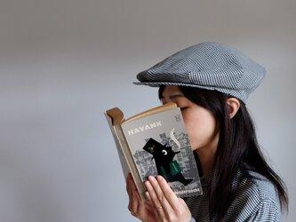 強撚リネン・白黒ダイヤチェック - Re:19世紀のキャスケット <受注制作>の画像