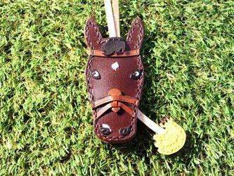 【オーダー】愛馬のキーカバー 黒鹿毛・チョコの画像