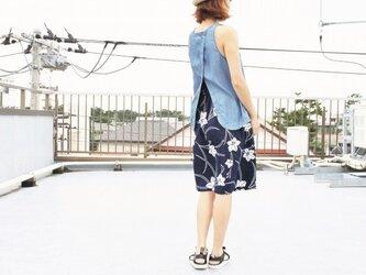 着物リメイク・浴衣の毎日スカート(石竹の花・M)の画像