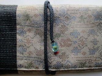 送料無料 大島紬で作った和風財布・ポーチ 2799の画像