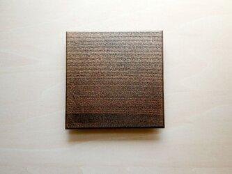 拭き漆四角平皿(ニレ)の画像