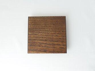 拭き漆 四角平皿(ニレ)の画像
