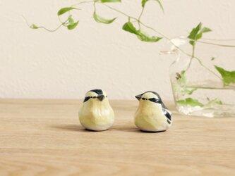 【暦鳥・夏】キビタキ(ツヤ) 国産ヒノキの木箱入り ※受注制作の画像