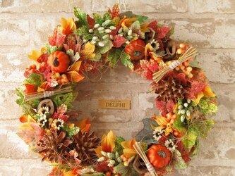 色付く秋のリース2【ハロウィン ギフト 秋の新作】の画像