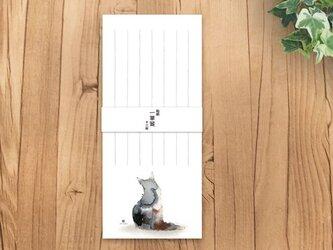 猫  一筆箋 *親子*の画像