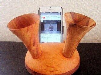 iphone スピーカースタンド バッファーローホーン丸型の画像