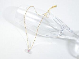 つぶつぶガラスネックレス(ピンク)の画像