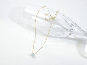 つぶつぶガラスネックレス(ブルー)の画像