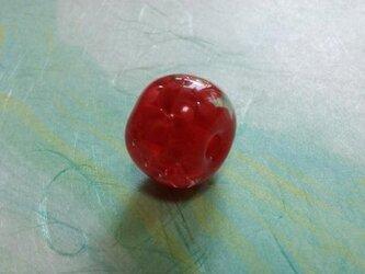 赤い玉~花1の画像