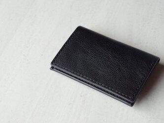 【受注生産】Italian leather Business Card Case/dark navyの画像