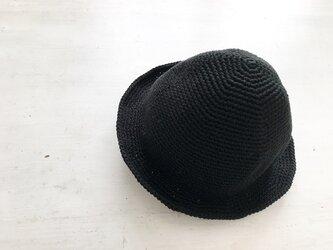 シンプルハット[黒]の画像