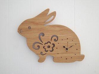 時計 ウサギの画像