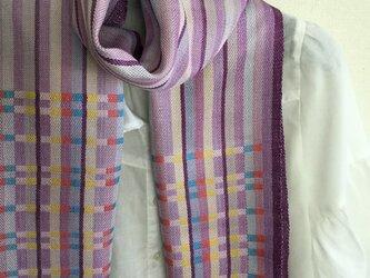 【No.26】紫 昼夜織マフラーの画像