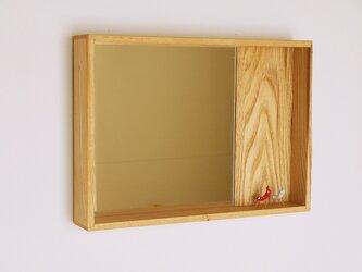 はこ鏡 栗材2の画像