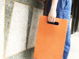 トレンドゥラムの本屋さんバッグ 雑誌サイズ 橙の画像