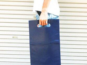 トレンドゥラムの本屋さんバッグ 雑誌サイズ 紺の画像