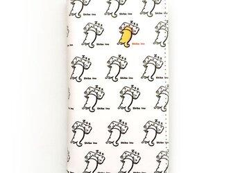柴犬さんお昼寝中 柴犬スマホ手帳カバー 全機種対応スライドタイプ(Mサイズ)の画像
