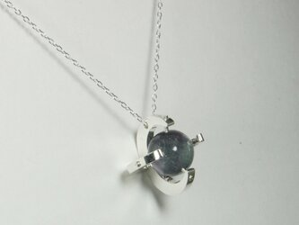 Sphere in the Moon Pendant Silver Fluorite 月 蛍石 シルバー <受注制作7日>の画像