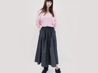 年間OK! 岡山デニム 黒 ロングスカート ブラック ジーンズ ●VIOLA●の画像