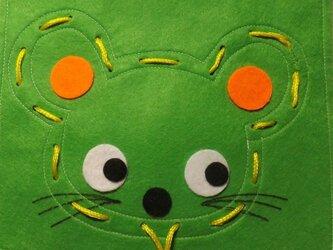 ひも通しのおけいこ(ネズミ)の画像
