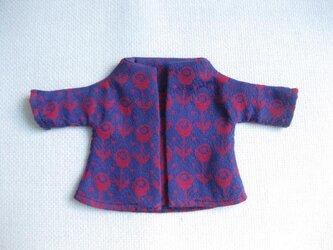 sokko's Coat  紺地に赤いお花柄の画像