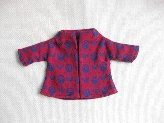 sokko's Coat  赤地に紺色のお花柄の画像