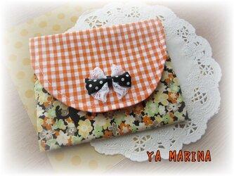ふた付きティッシュケース 猫×オレンジの画像