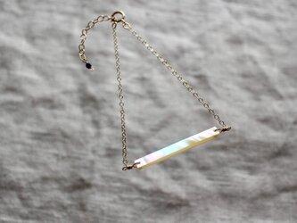 ブレスレット 14kgf 夜光貝の画像