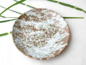 炭化しぶき釉の尺皿 1点のみ (送料無料)の画像