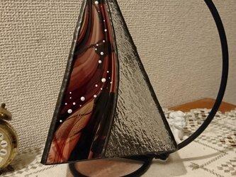 絵付けステンドグラスランプ~躍の画像