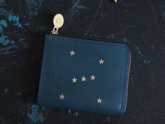 Lウォレット L字ファスナー財布( ORION ナイトブルー)牛革 レザー メンズ レディース ILL-1160の画像