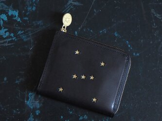 Lウォレット L字ファスナー財布( ORION ブラック)牛革 レザー メンズ レディース ILL-1160の画像
