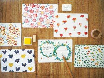Rmade 花の水彩画 ポストカードセットの画像
