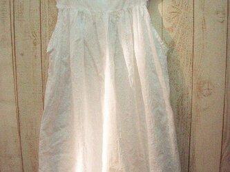 予約販売♪白花柄レースインナーキャミワンピ-ス・ミドル丈 M~2L,3L~5Lからお選びください。 プチオーダー可!の画像