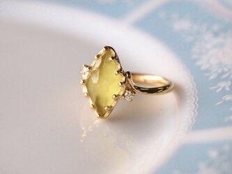 カナリートルマリン指輪の画像