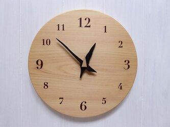 ヒノキの時計 26センチ 070s 文字盤茶色の画像