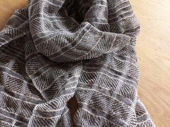 【手織り】リネンのストール#01の画像