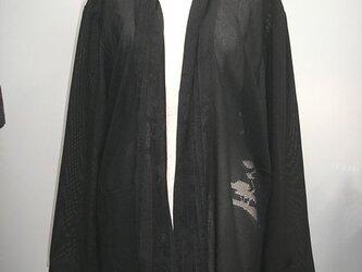 正絹黒絽のロングジャケットの画像