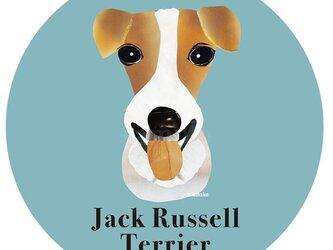 ジャックラッセルテリア2《犬種名ステッカー/小型犬》の画像