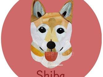 柴犬2《犬種名ステッカー/小型犬》の画像