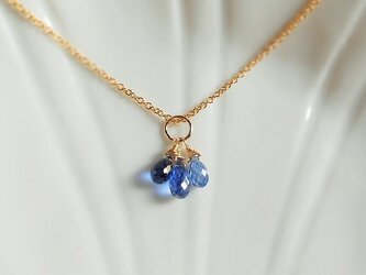 〈14kgf〉宝石質カイヤナイトのネックレス用チャームの画像