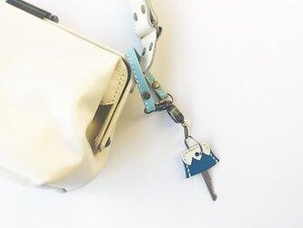 リール付き革ベルト スカイブルーの画像