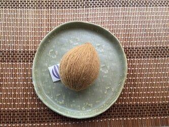 手紡ぎ糸 苺茎染め・アルミ媒染 ロムニー羊の画像