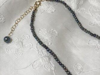 ブラックパールネックレスの画像
