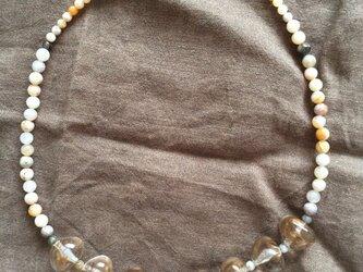 天然石ボツワナアゲートのネックレスの画像