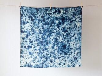 【再入荷】本藍染め麻風呂敷(群雲)の画像
