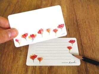 赤い小花のミニカードの画像